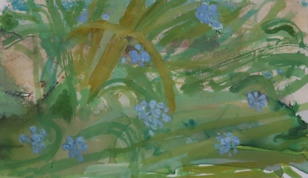 David Hamilton Muscari gouache & watercolour on paper Artwork: 22 x 13cm