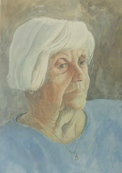 Sarah Holliday K watercolour & gouache Frame: 50 x 40 cm Artwork: 34 x 24 cm