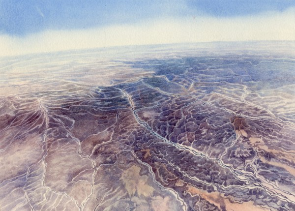 Liz Butler Barcoo, Queensland, Australia watercolour Frame: 30 x 40 cm Artwork: 18 x 25 cm