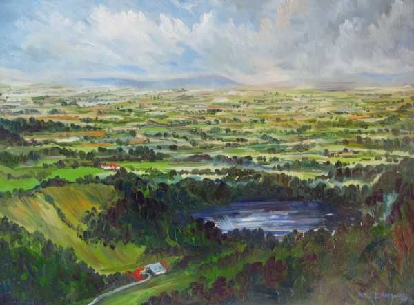Neil Pittaway View from Sutton Bank and Lake Gomire, North Yorkshire oil on canvas Frame: 67 x 87 cm Artwork: 59 x 79 cm