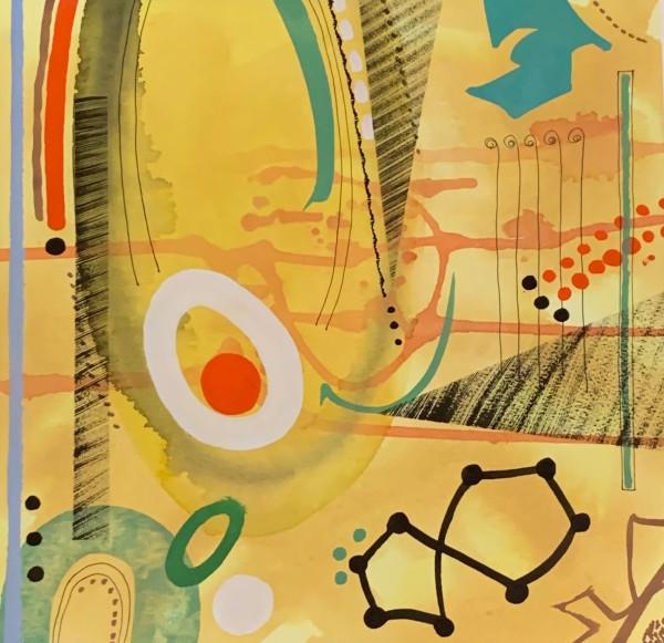 Chloe Fremantle Evocation 18 gouache Frame: 49 x 49 cm Artwork: 33 x 34 cm