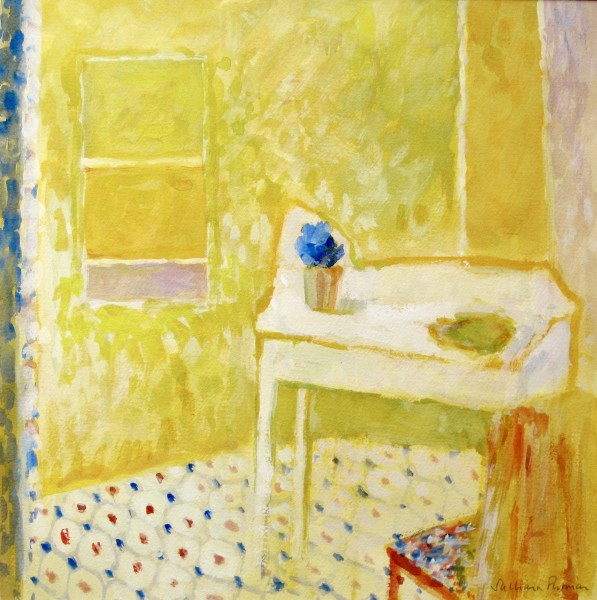Salliann Putman Bonnard's Gift To Rothko - Rothko's Debt To Bonnard watercolour & gouache Frame: 53 x 53 cm Artwork: 35 x 35 cm