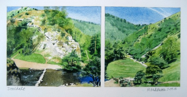 Mike Middleton Dovedale watercolour 40x30cm
