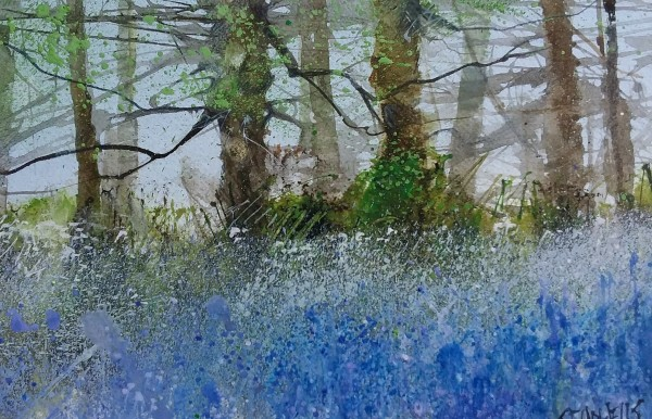 Sue Howells Shropshire Bluebells watercolour Frame: 27 x 36 cm Artwork: 21 x 30 cm