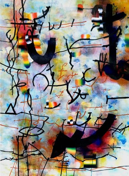 Bill Henderson Spinnaring acrylic 90 x 78