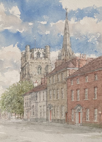Dennis Roxby Bott West Street, Chichester watercolour Artwork: 26 x 37cm