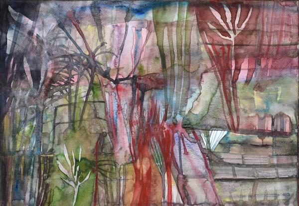 Robin Richmond Jungle Mekong Delta I, Vietnam watercolour Artwork: 29.5 x 40 cm Frame: 45.5 x 63 cm