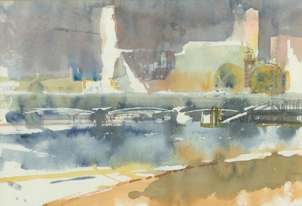 Paul Newland Bright River watercolour 40x50cm