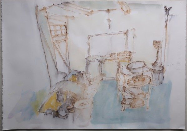 David Hamilton The Other Bigger Studio ink & watercolour 64x84cm