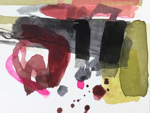 Jane Lewis Madder Rose watercolour Artwork: 15 x 20 cm Frame: 27 x 29 cm