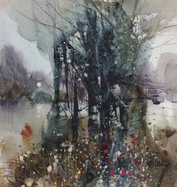Sue Howells The Shortest Day watercolour 44 x 45cm