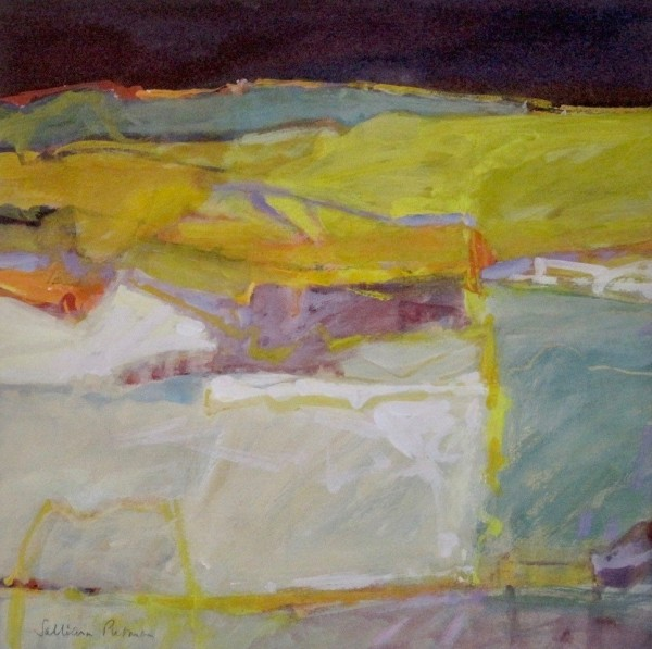 Salliann Putman White Fields watercolour & gouache 38x38cm