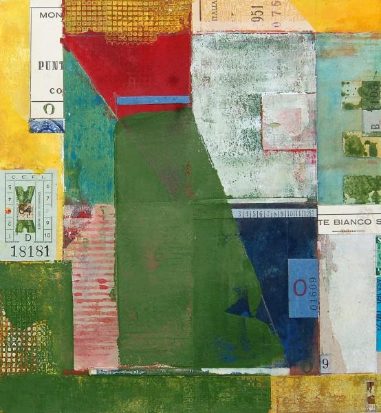 Stuart Robertson Portas Lisboa, Lisbon watercolour, gouache & collage Frame: 41 x 38 cm Artwork: 23 x 21 cm