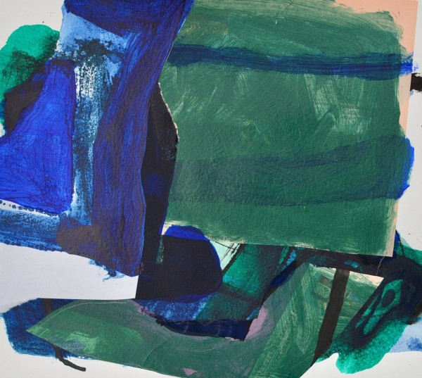 Jim Hunter North Coast watercolour, acrylic & ink Frame: 41 x 44 cm Artwork: 22 x 25 cm