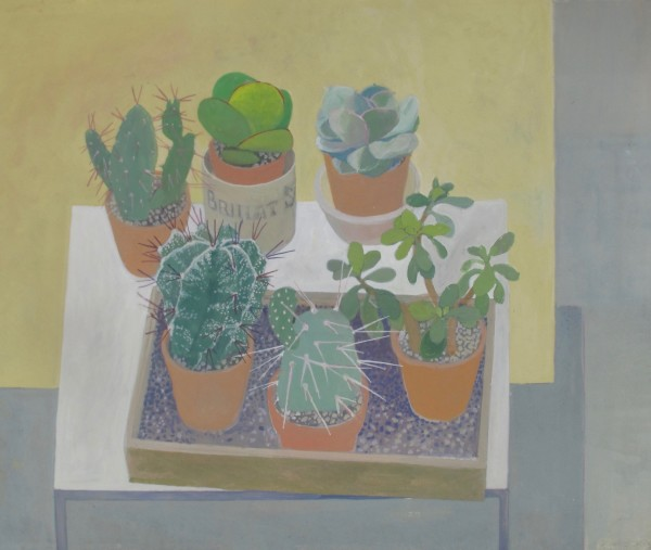Wendy Jacob Cacti Collection Gouache