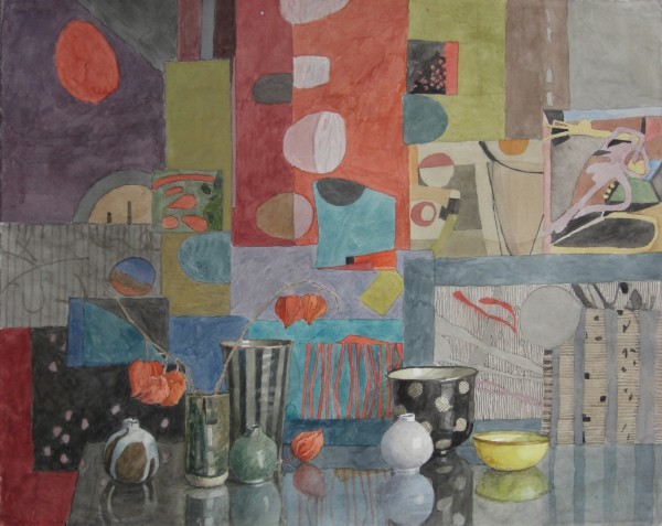 Annie Williams Colour Collage watercolour 58x67cm