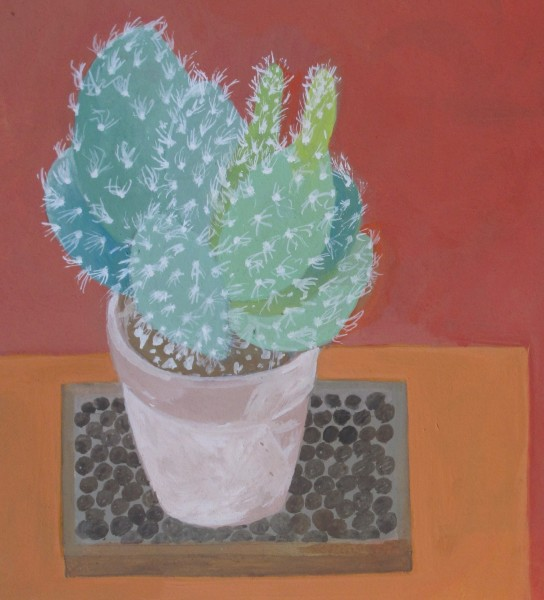 Wendy Jacob Prickly Cactus gouache 28x28cm