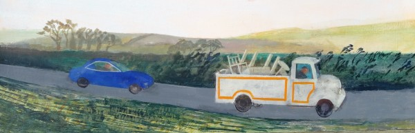 Richard Sorrell Furniture Lorry acrylic 20x69cm