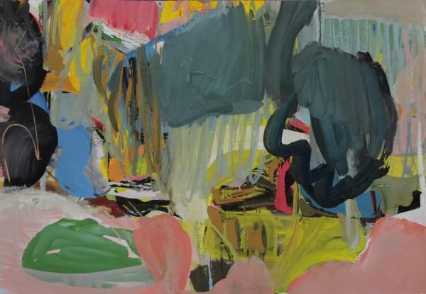 Julie D. Cooper Rock and Ring gouache Frame: 40 x 60 cm Artwork: 26 x 38 cm