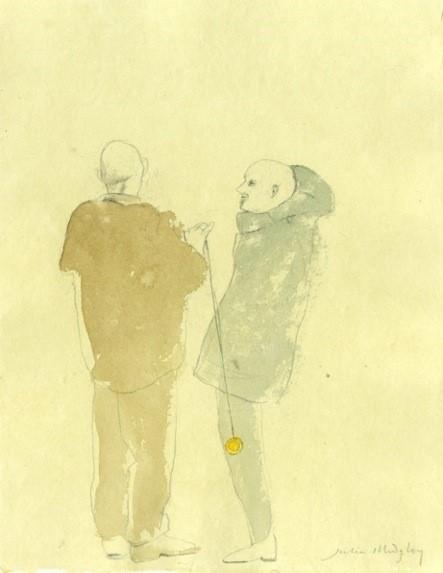 Julia Midgley, Two Men with Yo Yo