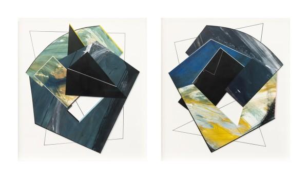 Lisa Traxler Cave (diptych) acrylic 75x136cm