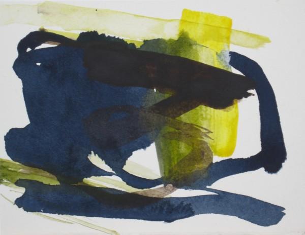 Jane Lewis Depth Unknown watercolour Artwork: 13 x 17 cm Frame: 27 x 29 cm