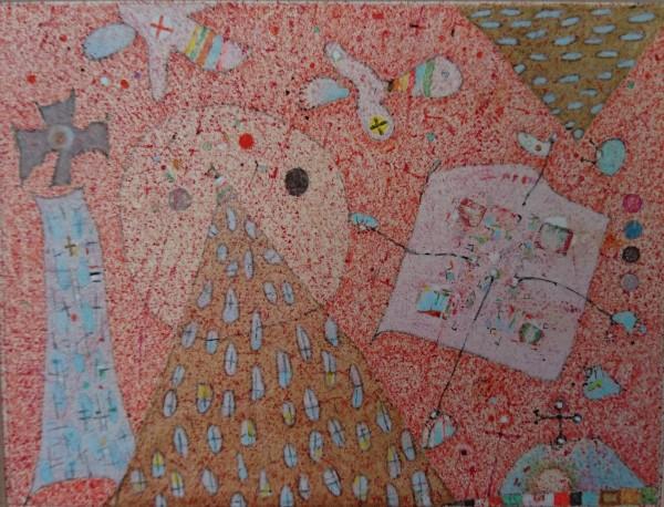 Alexander Vorobyev Mountain mixed media on paper Frame: 23 x 26 cm Artwork: 9.5 x 12.5 cm