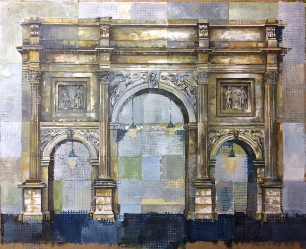 Stuart Robertson Marble Arch London watercolour Artwork: 33 x 26cm