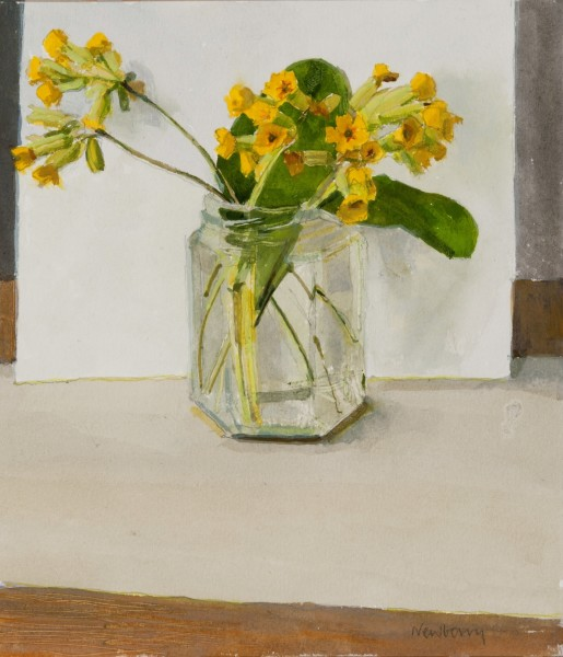 John Newberry Cowslips watercolour 47x41cm