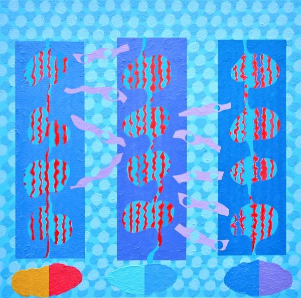 John Crossley Banners acrylic 62 x 60cm