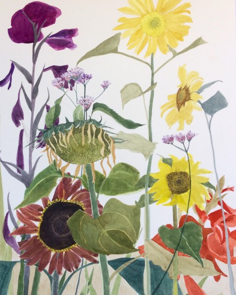 Suzy Fasht The Kindness of Plants watercolour on paper Frame: 61 x 40 cm