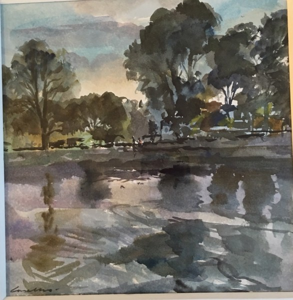Jane Corsellis, River Reflections, Chiswick