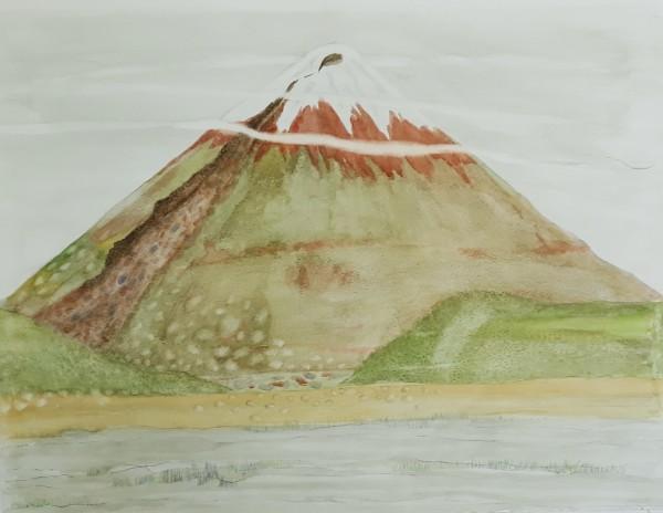 Caroline McAdam Clark Cotopaxi Volcano watercolour
