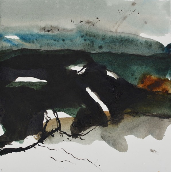 Jim Hunter East Man watercolour & ink 38 x 36cm