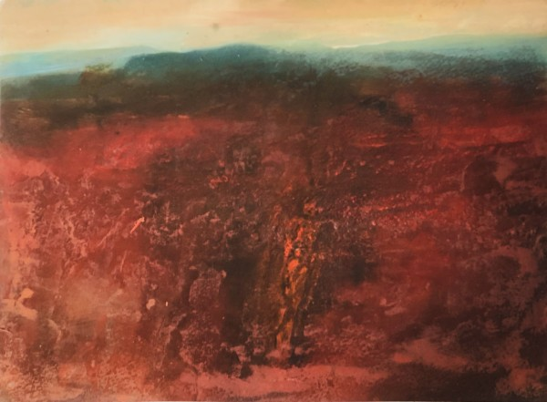 Robin Richmond Molten Earth, Udaipur, Rajasthan watercolour, acrylic & glair Artwork: 30 x 42 cm
