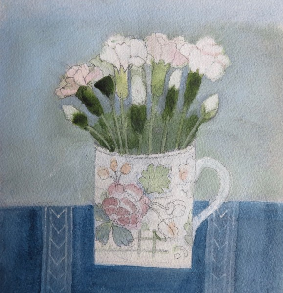 Jill Leman Pinks Watercolour