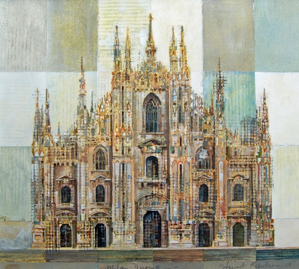 Stuart Robertson Duomo Milan watercolour 47x49cm