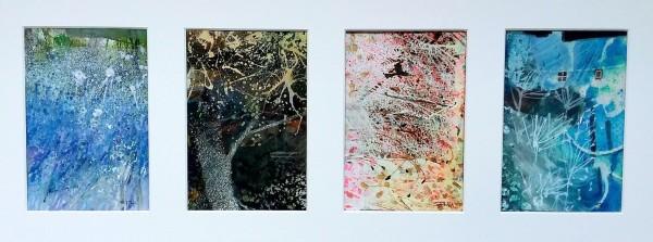 Sue Howells Inn your Dreams liquid acrylic Artwork: 15 x 50 cm Frame: 28 x 64 cm