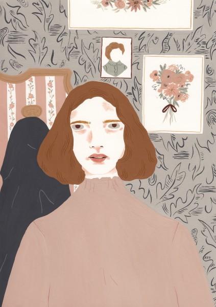 Alessandra Genualdo The Childhood Home gouache 39 x 30cm