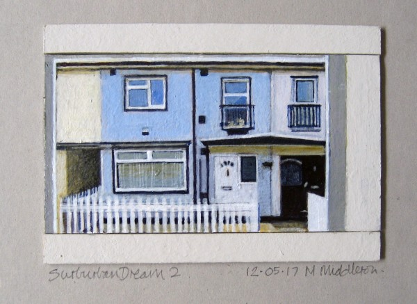 Mike Middleton Small Suburban Dream 2 acrylic 25x32cm