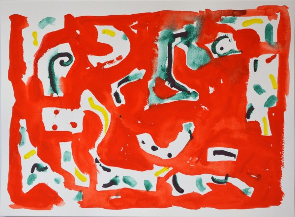 James Faure Walker Red January 5, 2021, No. 1 gouache Artwork: 38 x 28cm