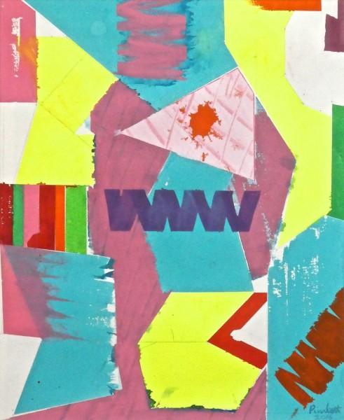 Geoffrey Pimlott Triple Zig-Zag watercolour