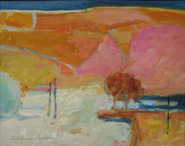Salliann Putman Pink Hills watercolour & gouache Artwork: 20 x 25cm