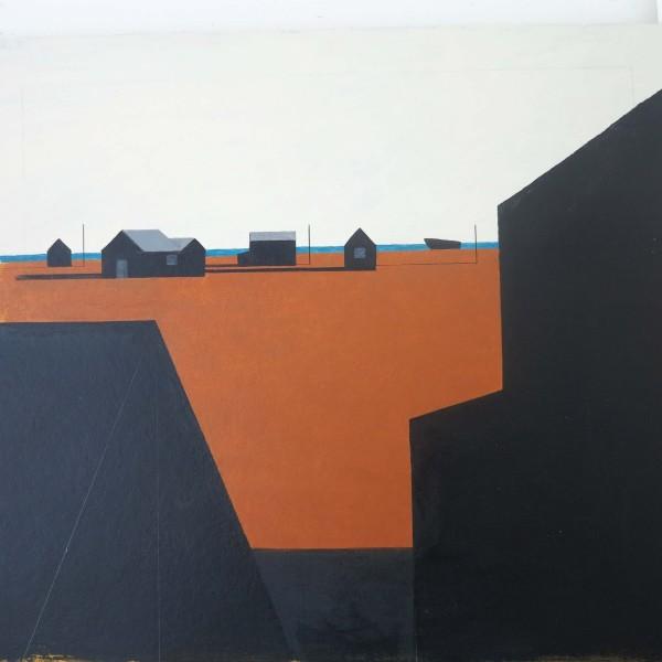 Martin Leman Dungeness acrylic Frame: 68 x 77 cm Artwork: 44 x 54 cm