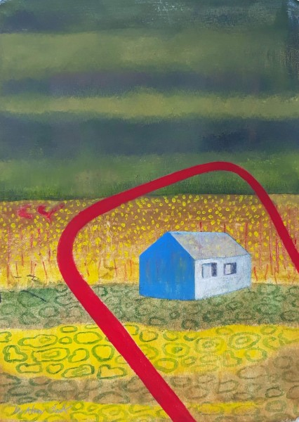 Caroline McAdam Clark Little House in the Prairie watercolour