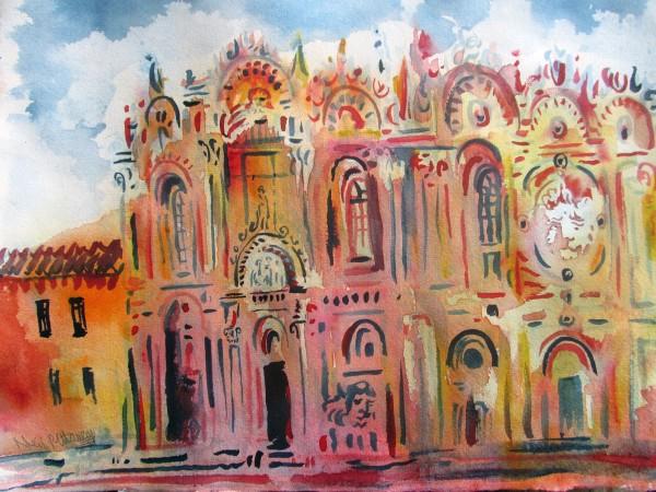 Neil Pittaway Scuola Grande Di San Marco Venice watercolour Frame: 44 x 54 cm Artwork: 30 x 40 cm