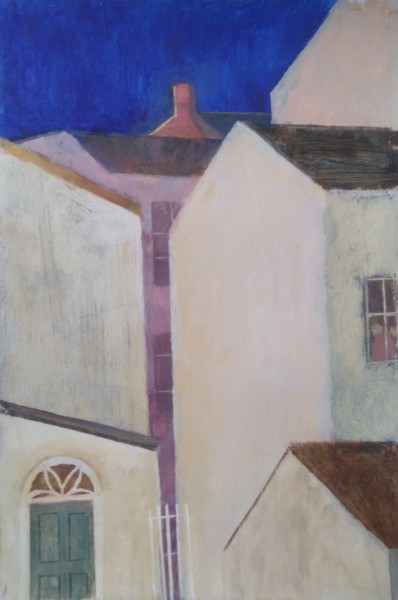 Richard Sorrell Town Houses acrylic