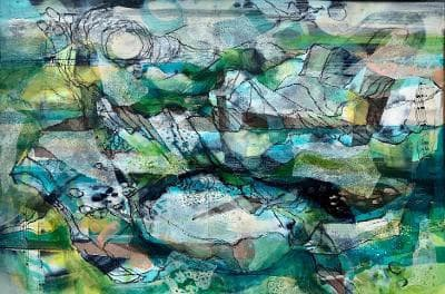 Mark Raggett Shore Elegy mixed media Artwork: 39 x 27cm