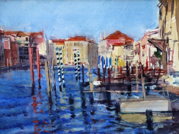 Francis Bowyer Grand Canal, Venice watercolour & bodycolour Frame: 57 x 65 cm Artwork: 36 x 47 cm
