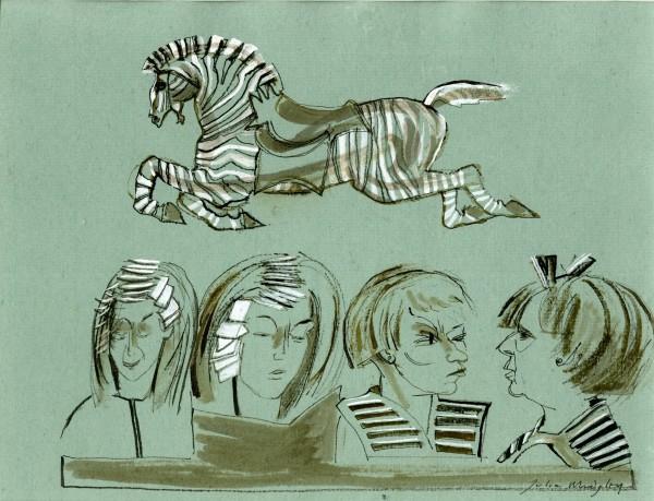 Julia Midgley, Zebra at the Hairdresser's